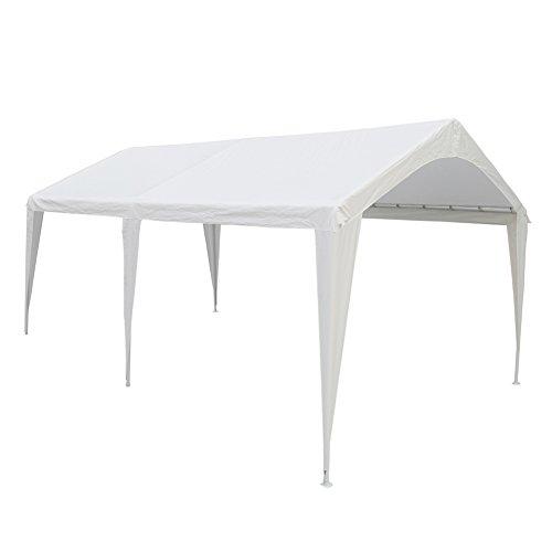 Abba Patio 10 x 20-Feet Outdoor Carport Canopy with 6 Steel Legs,...