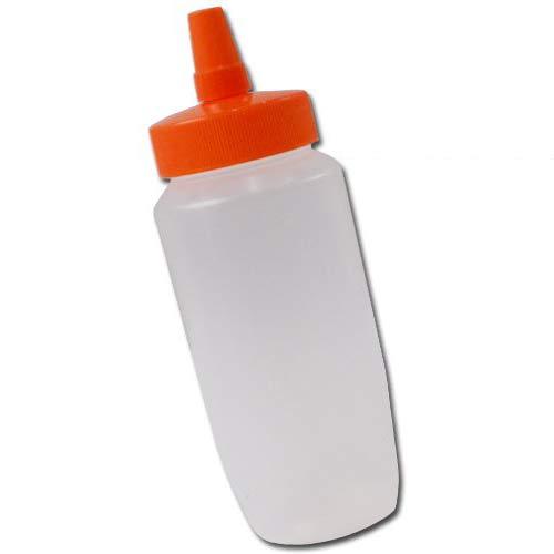 はちみつ容器360ml(オレンジキャップ)│業務用ローションや調味料の小分けに詰め替え用ハチミツ容器(蜂蜜容器)はちみつボトル