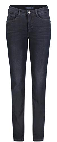 MAC JEANS Damen Straight Jeans ANGELA, Blau (Dark Wash Blue Blk D898), W44/L32