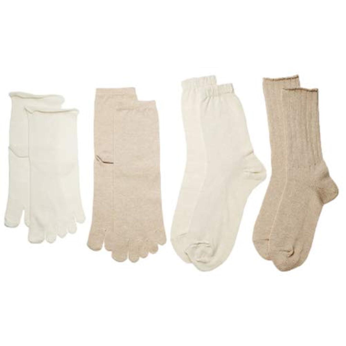 繊毛台無しに適度なコクーンフィット 4枚重ね履きソックス Sサイズ(22~24.5cm)