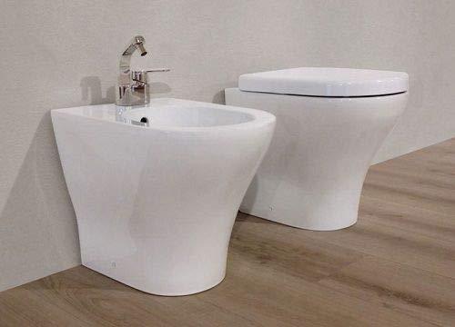 Sanitari Nemesi a Terra Filo Muro Bianco (Copri Water Bianco)