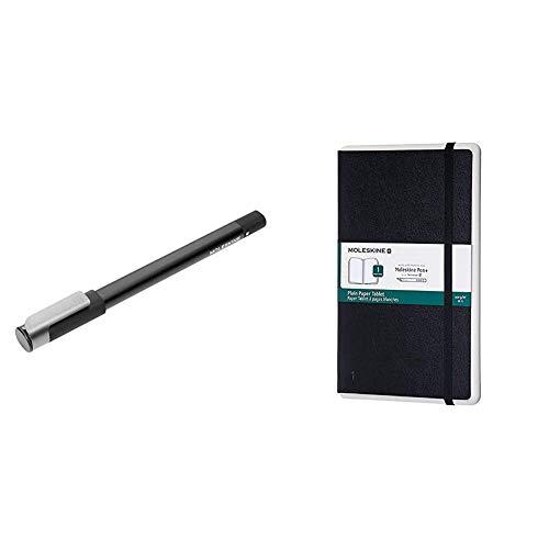 Moleskine Ellipse Pen+ Penna Smart per Scrittura + Moleskine Taccuino Paper Tablet P+, a Pagine Bianche, Copertina Rigida, Compatibile con Penna Molesk