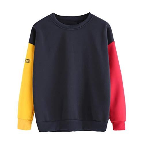 OverDose Damen Herbst-Oktoberfest-Art-Frauen-Art und Weise Fester Oansatz Long Sleeve mit Reißverschluss-Detail, Das Sport-Radfahren dünne T-Shirt Bluse wandert