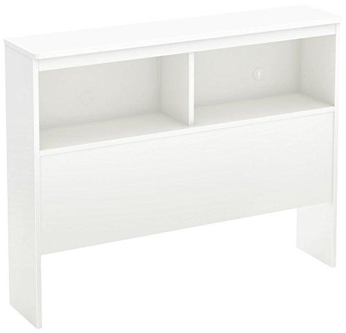 South Shore Libra Bookcase Headboard with Storage, Twin 39-inch, Pure White