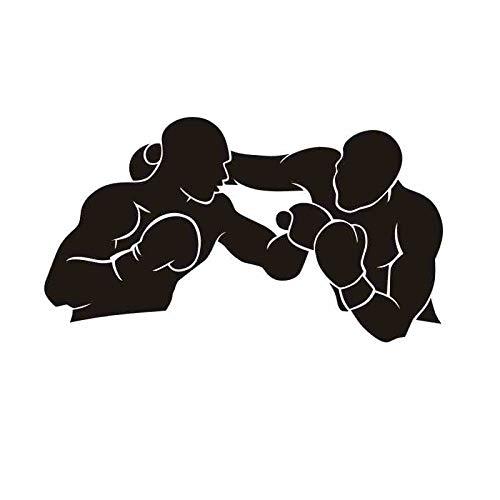 Boxhandschuh Aufkleber Kick Boxer Spielen Auto Aufkleber Free Combat Poster Vinyl Sturm Wandtattoos Dekor 33x58CM
