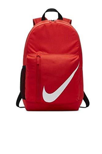 Nike Elemental Mochila 22L Mochila Escuela Gimnasio Bolsa Deportiva Mujer Chicos Hombres Rojo