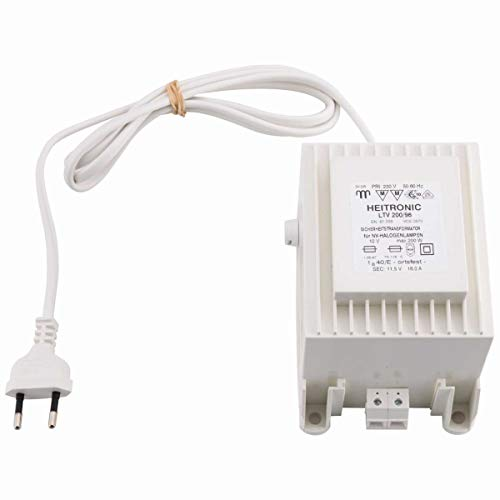 Sicherheitstransformator 150-200W 12V AC inkl 15m Anschlusskabel +