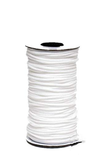 Opaza 3mm White Elastic Cord for...