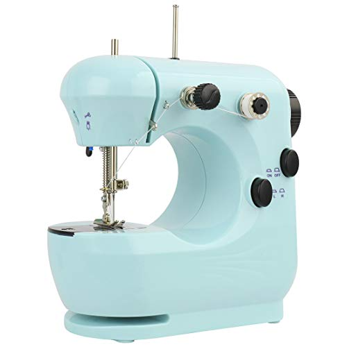 Mini Sewing Machine,DEKINMAX Portable Electric Lightweight Sewing Machine Mechanical Sewing Machines for Beginners, Adjustable Speed with Arm-free, Embroidery Machine for Home and Travel Sewing(BLUE)