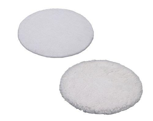 Preisvergleich Produktbild Einhell Polierhauben passend für Auto Poliermaschine BT-PO 110 (1 Textil- und 1 Synthetik Polierhaube)