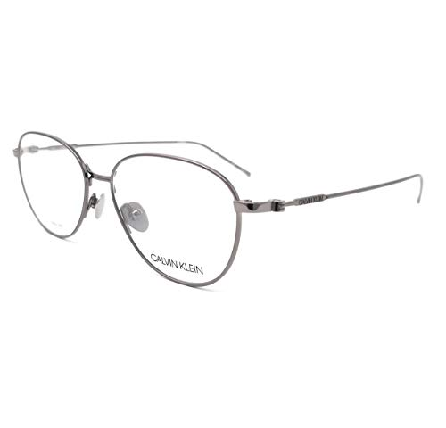 Calvin Klein Ladies Gunmetal Round Eyeglass Frames CK18118 8 52