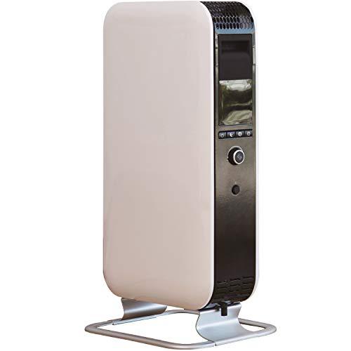 Millオイルヒーター(温度調節機能)(出力3段階設定)(コンクリート住宅~8畳/木造住宅~6畳)(入タイマー/切タイマー最大24時間)(おやすみタイマー)(LEDディスプレイ表示)ホワイトYAB-H1200TIM(W)