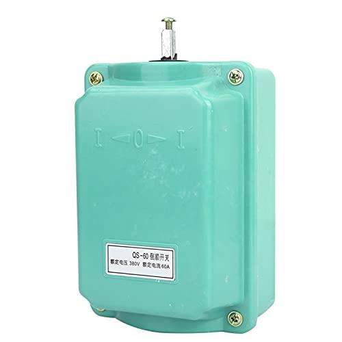 Práctico interruptor de tambor hacia adelante QS-60, interruptor de motor hacia adelante, fácil conexión de cable, fiable y estable para los componentes eléctricos.
