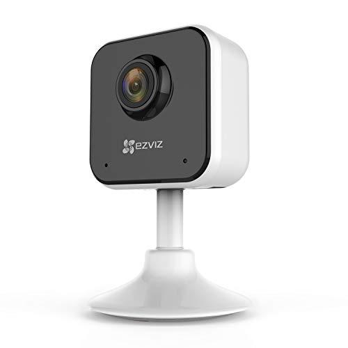 EZVIZ C1 Mini Telecamera di Sorveglianza 1080p, Telecamera WiFi Interno, Compatibile con Alexa, IP Camera per Bambini con Sensore Rilevamento Movimento, Audio Bidirezionale, Visione Notturna
