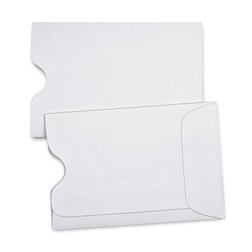 """Guardian Hotel Key Card Envelope/Credit Card Protector/Gift Card Sleeve, 2-3/8"""" x 3-1/2"""", White, 500/Box"""