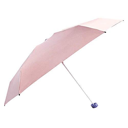 YXDEW Folding Umbrella Mini Compact Sun&Rain Travel Umbrella Lightweight Portable Umbrella with 95% UV Protection Travel Umbrella waterproof (Color : Pink, Size : Free)