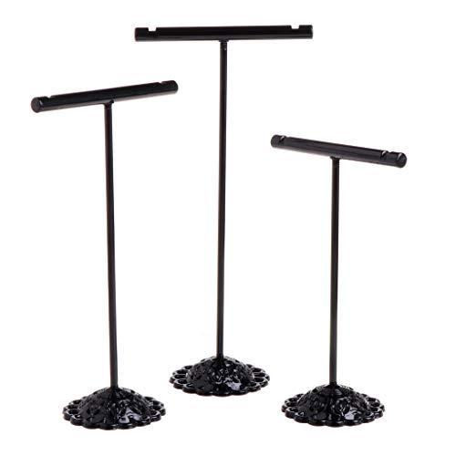 Y-POWER 3 piezas de aleación vintage pendientes soporte de exhibición aleación pendientes exhibición en forma de T soporte escaparate joyería organizador titular