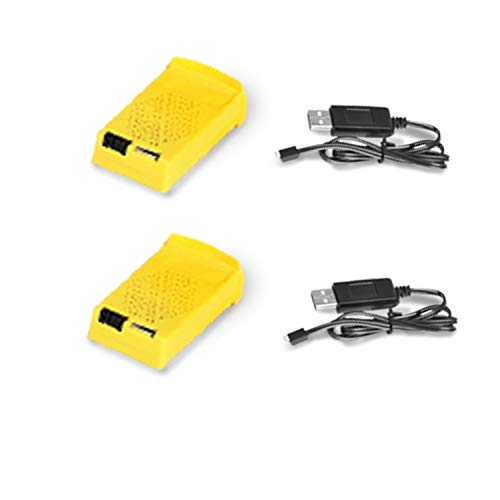2 x 3.7V 750mAh Li-Po wiederaufladbare Batterie + 2 x USB-Ladekabel für Q8