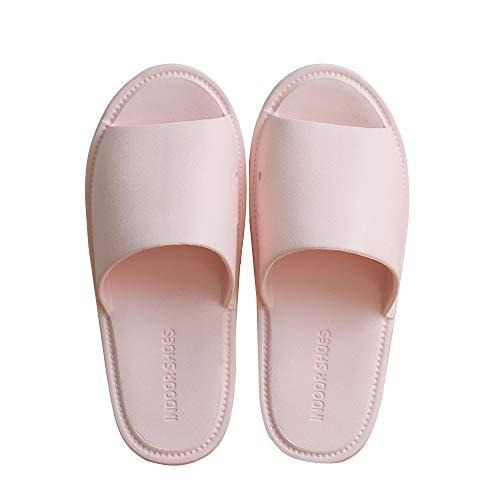 TFENG Herren Pantoffeln, Unisex Hausschuhe Indoor Hause Slippers, House Schuhe (Rosa, Gr.43-44 EU)