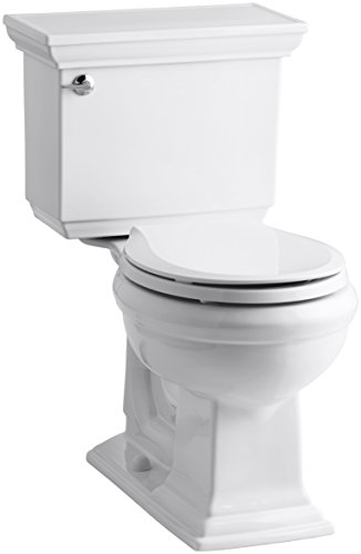 Kohler K-3933-0 Memoirs Comfort Height Two-Piece Round Front Toilet with Stately...