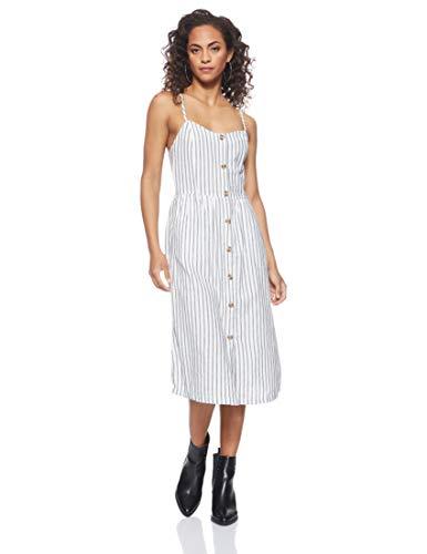 ONLY Damen 15178937 Kleid, Mehrfarbig (White Stripes: W/Stripes), 38