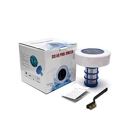 QOTSTEOS Solar-Pool-Ionisator, Kupfer-Silber-Ionisations-Schwimmbadreiniger, chemiefrei, mit Bürste, für Trinkwasser, Pool, Spa, Whirlpools(Size:6,89 Zoll)