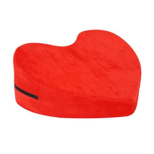 Almohadas en forma de corazón, cojines auxiliares interesantes, agregan juguetes de coqueteo a la vida: rojo