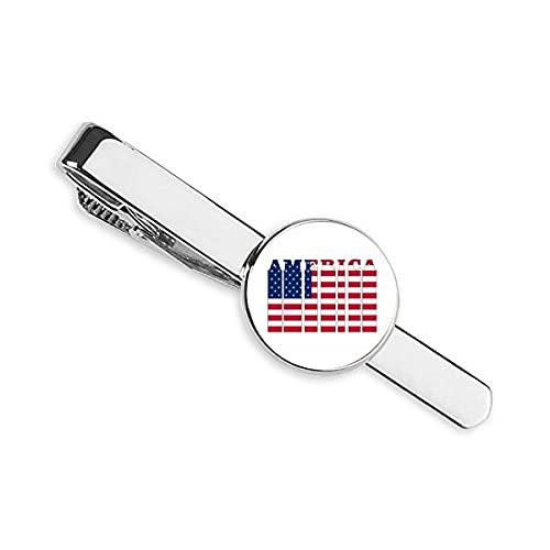 Bandera País Letra USA Corbata Clip Bar Regalo Hombre de Negocios