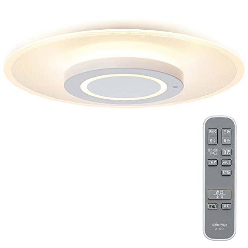 アイリスオーヤマ 導光板 シーリングライト 【5年保証】 LED インテリア 照明 おしゃれ ~8畳 4200lm 薄型パネル 明るさメモリー 高演色 省エネ おやすみタイマー 取付簡単 CEA-A08DLP