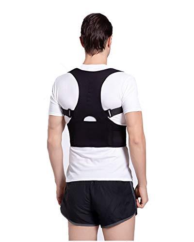 HONGBI Corrector de Postura, Corrector y Soporte para Columna Vertebral,Enderezador de Espalda Transpirable Alivia Dolor en Cuello, Espalda y Hombros Negro XL