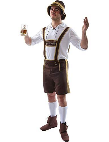 ORION COSTUMES Disfraz de Pantalón de Cuero del Festival de la Cerveza Bavaria Atuendo Alemán Despedida de Solteros para Hombres