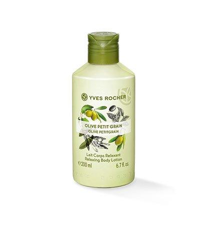 Yves Rocher LES PLAISIRS NATURE Körpermilch Olive-Petitgrain, feuchtigkeitsspendende Body Milk, 1 x Flacon 200 ml