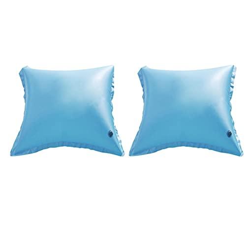 2 X Almohada De Aire para Piscina Flotadores De Piscina Gruesos Cojín Inflable para Cubiertas De Piscina De Invierno sobre El Suelo