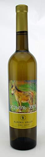 Georgischer Wein ALAZANIS VALLEY, weiß halbsüß, aus autochthone Rebsorte Rkatsiteli, 0,75L, Georgien, Sommerwein