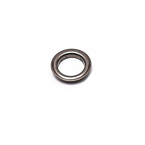 100 Sets Eyelets with Washer Grommets Self Backing for Leather, Clothes. (12MM, Gun Metal/Black)