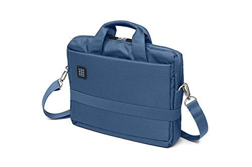 Moleskine ID Kollektion Horizontaler Messenger Bag mit Schultergurt (Gerätetasche für PC, Tablet, Notebook, Laptop und iPad bis 13'' - Maße 35 x 9,5 x 27 cm) boreal blau