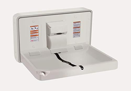 American Specialties Cambiador horizontal plegable de plástico antibacteriano