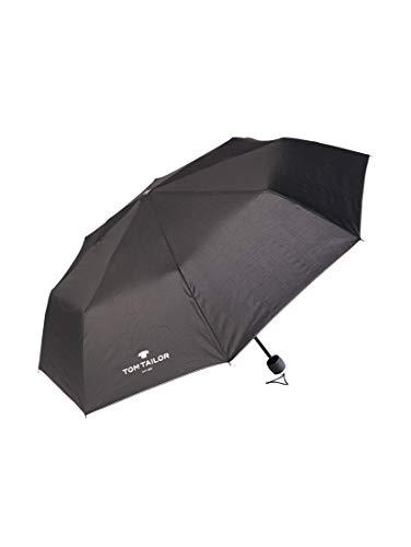 TOM TAILOR Unisex Regenschirme Extra kleiner Regenschirm black,OneSize,2999,2999