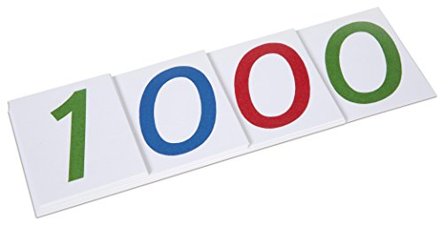 Betzold 758075 - Mathematik-Lehrmittel Zahlenkarten groß 1-1000 – Stellenwertsystem Dezimal-System Rechnen Lernen Kinder