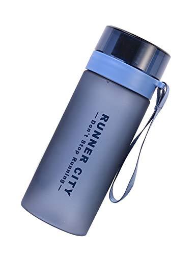 LLJPFD7J Flasche, 450 ml mit Waage TRITAN-Material, umweltfreundlich und tragbar, geeignet für Outdoor-Sportarten und Camping in der Schule (Farbe : Blau)