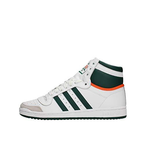 Adidas Top Ten Hi White Green Orange 43