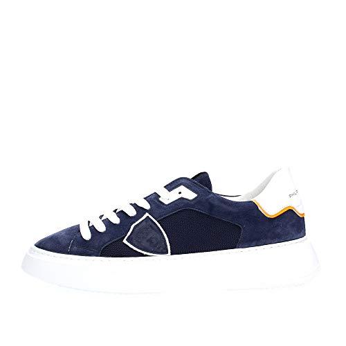 PHILIPPE MODEL PARIS BTLU RD01 Temple Sneakers Homme Blue 43
