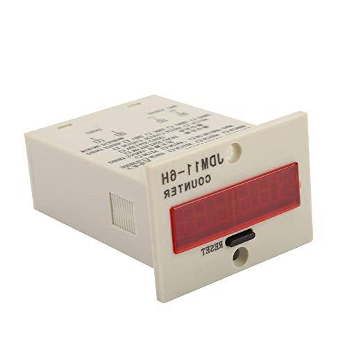 0-999999 Digitaler LED-Zähler Elektronischer Zähler JDM11-6H AC220V / DC36V / DC 24V / DC 12V (optional)(DC24V)