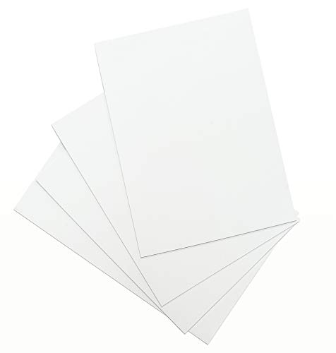 Placas de Poliestireno de Alto Impacto (PSAI/HIPS) Color Blanco Grosor 1,5 mm Láminas de Plástico Duro Para Manualidades Modelismo Separadores (4 UDS, 21x29,7 cm)
