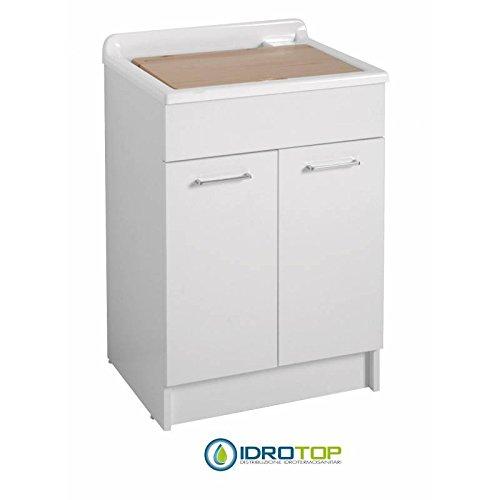 Lavatoio Con Mobile Swash 60X50,Vasca In ABS Metacrilato Colavene - Bianco