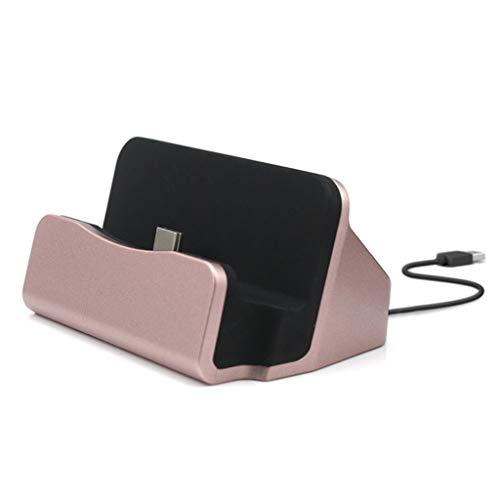 MYhose Estación de Acoplamiento de Carga rápida Tipo C Cargador de Acoplamiento USB C 3.1 con Cable, para estación de Acoplamiento Oro Rosa