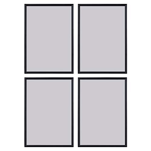 Ikea YLLEVAD Black A4 21x30cm Lightweight Photo Frames, Plastic & Paperboard - Set of 4