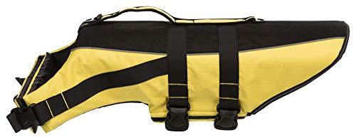 Trixie 30128 Schwimmweste für Hunde, L, schwarz/gelb