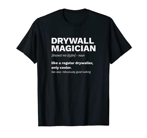 Plaque de plâtre Poseurs de cloisons sèches Magicien T-Shirt