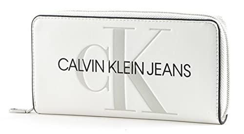 Calvin Klein Long Zip Around Wallet Bright White